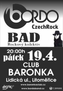 MUSIC BAR BARONKA (Bordo Tour 2019) @ Litoměřice