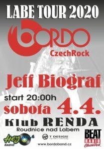 BORDO LABE TOUR 2020 - host JEFF BIOGRAF @ Roudnice nad Labem (Klub RENDA)