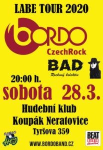 BORDO LABE TOUR 2020 - host BAD @ Neratovice (Klub Koupák)